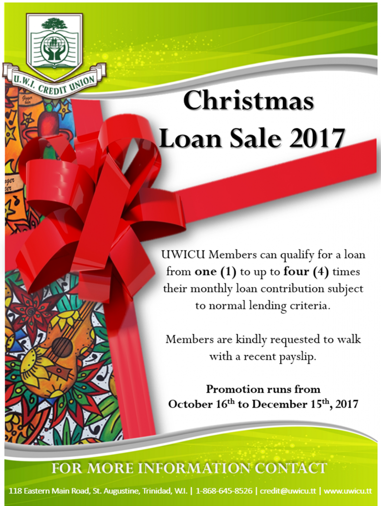 Car Repair Insurance >> UWICU'S CHRISTMAS LOAN SALE 2017 | UWI Credit Union